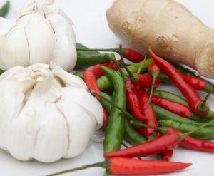Garlic chilli and ginger